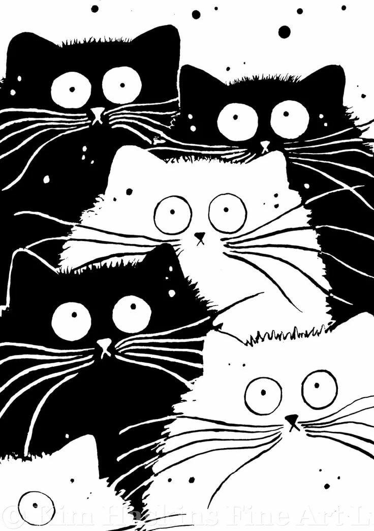 популярным смешные коты картинки графика монтаже