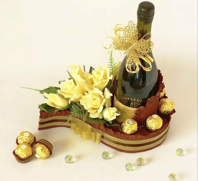 букеты из конфет для мужчины на день рождения взялись