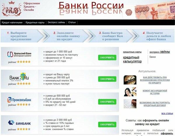 Банки казани взять кредит наличными