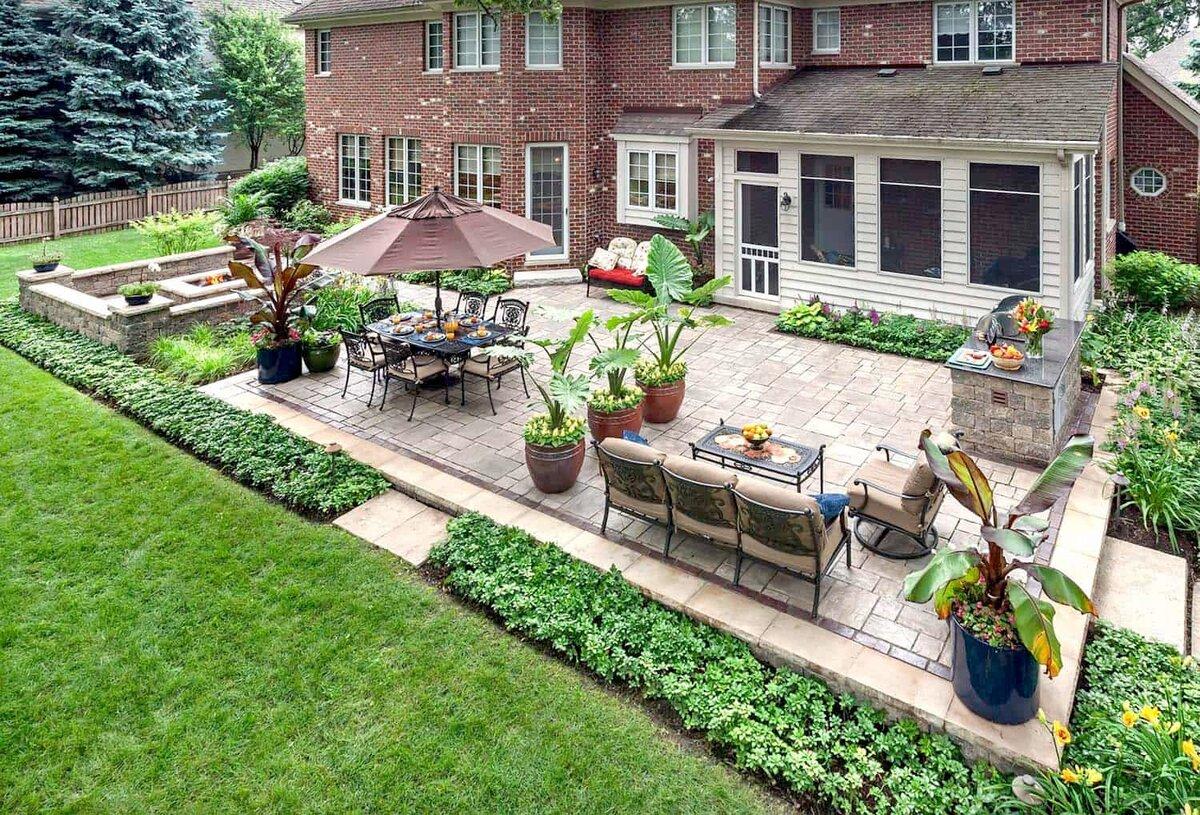 удачное картинки двора в частном доме радуемся солнышку