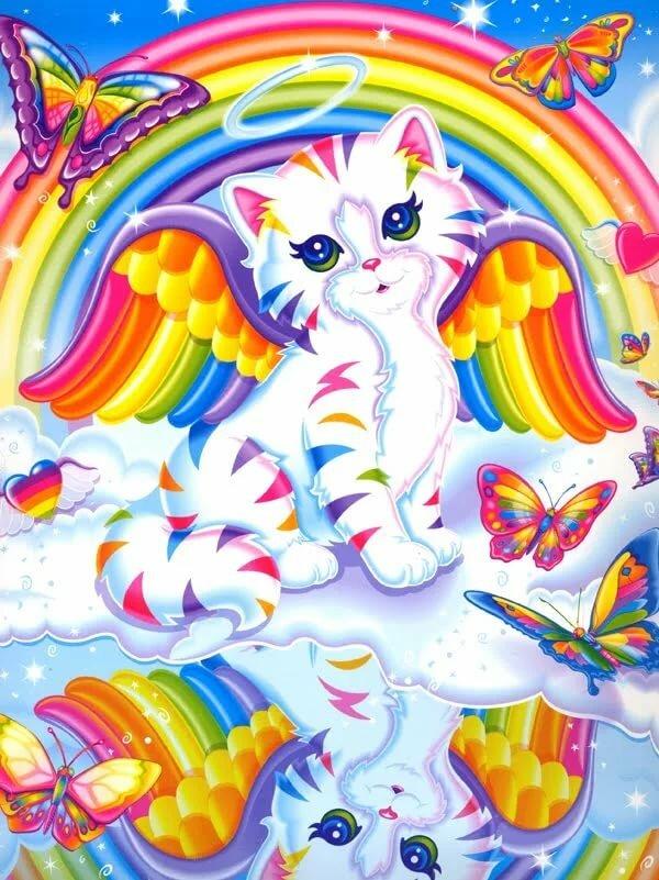 Картинки радуг кошка