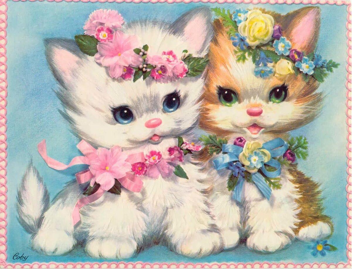 Котята анимация открытки, картинки