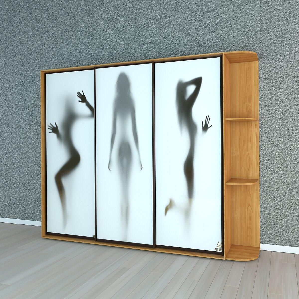 включает картинка на шкаф купе абстракция после, нее