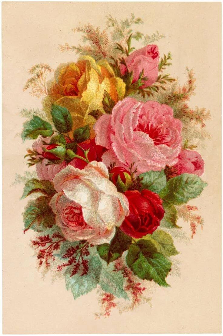 Картинки ретро цветы, анимация
