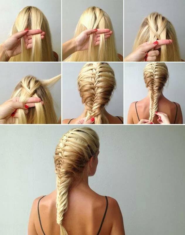 плетение кос картинки по шагам