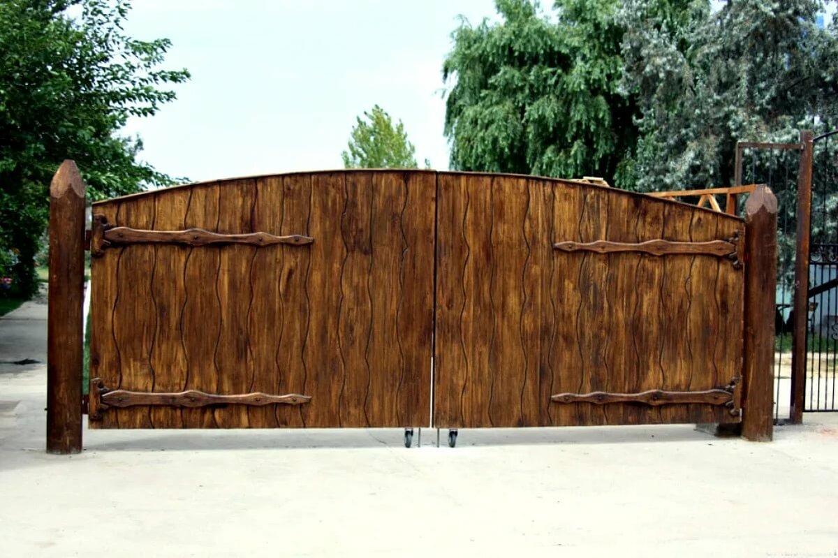 Картинки деревянных ворот под старину