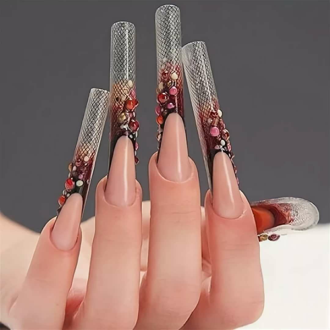 длинные нарощенные красивые ногти картинки для