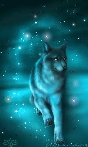 Картинки с анимациями волки