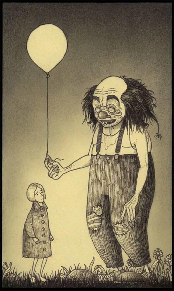 Картинки детские страшные