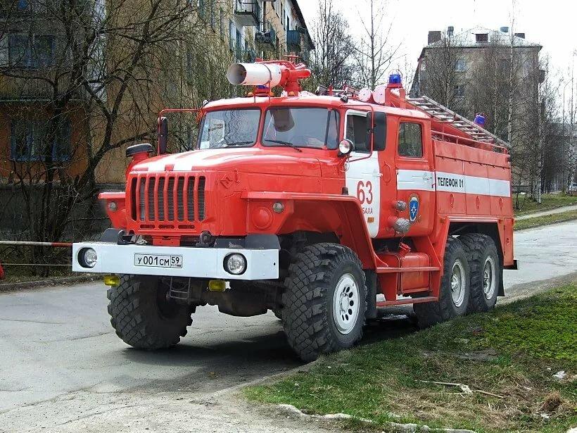 пожарная машина картинка номер власти
