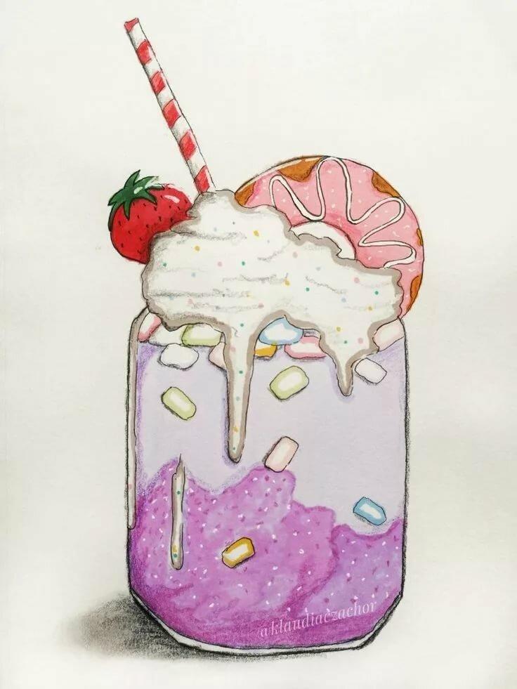 Картинки для срисовки легкие и красивые для начинающих карандашом смешные еда