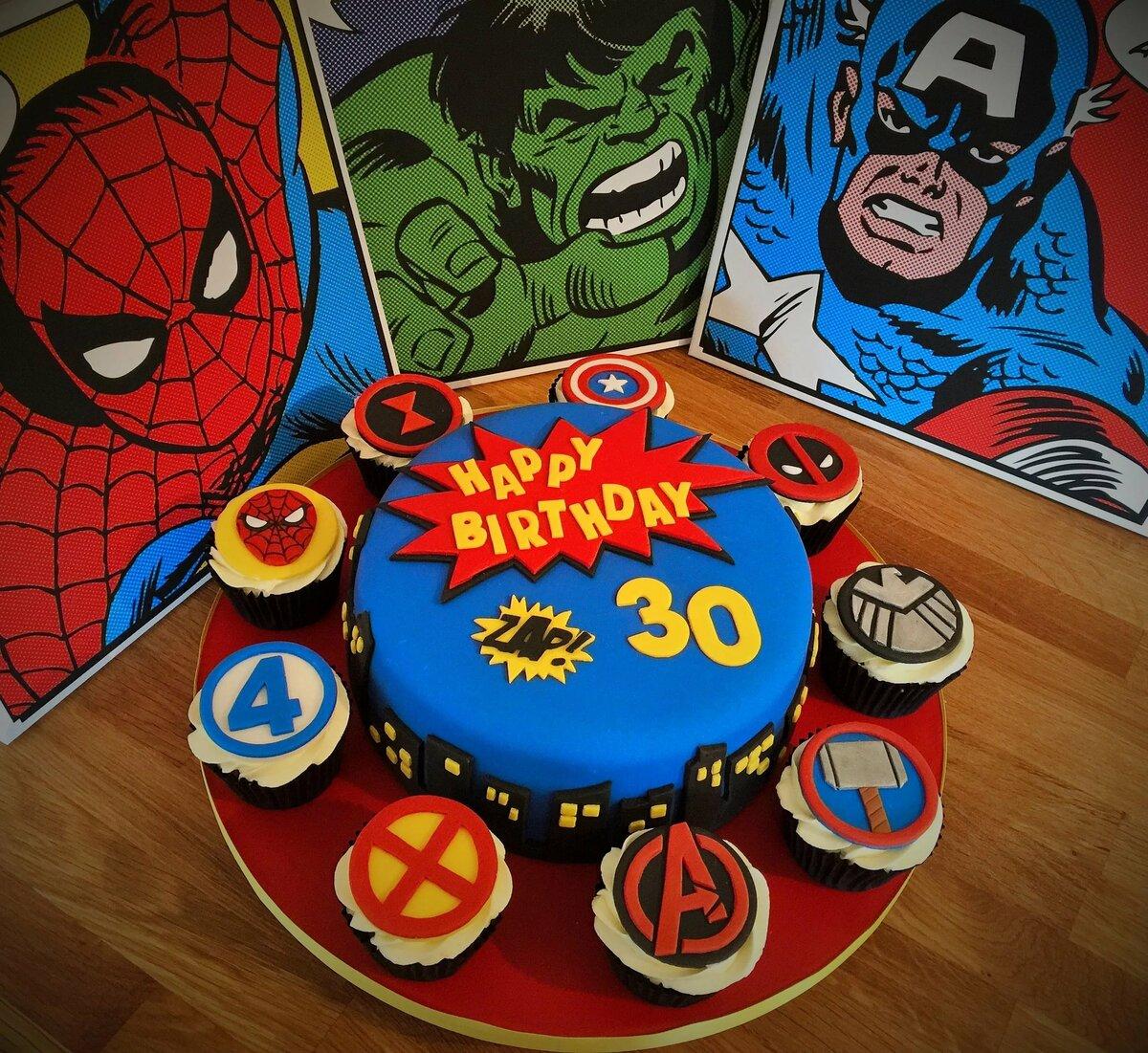 Картинки с супергероями для торта, открытки юбилей женщине