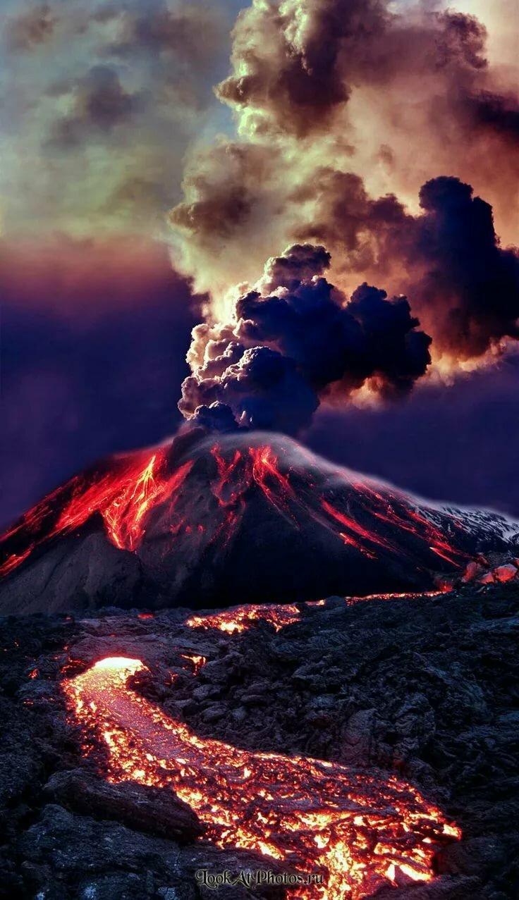Картинки вулкана на телефон