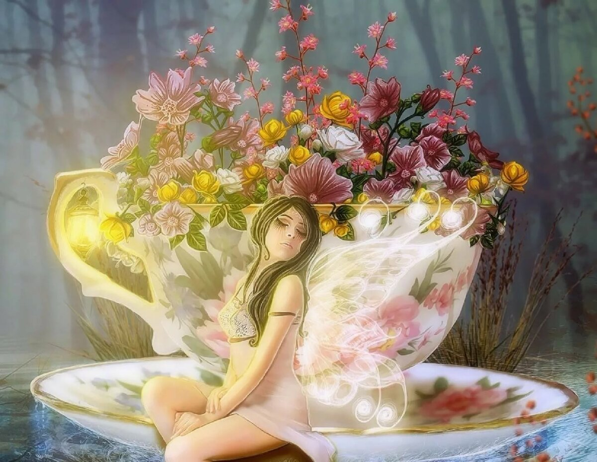 Фея на цветочке картинки