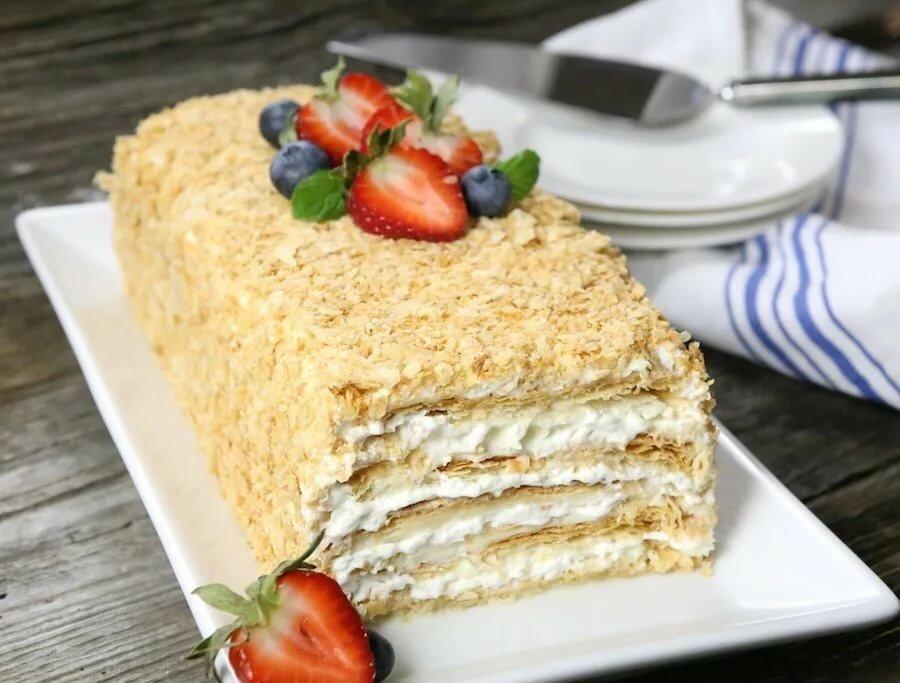 картинка торт наполеона