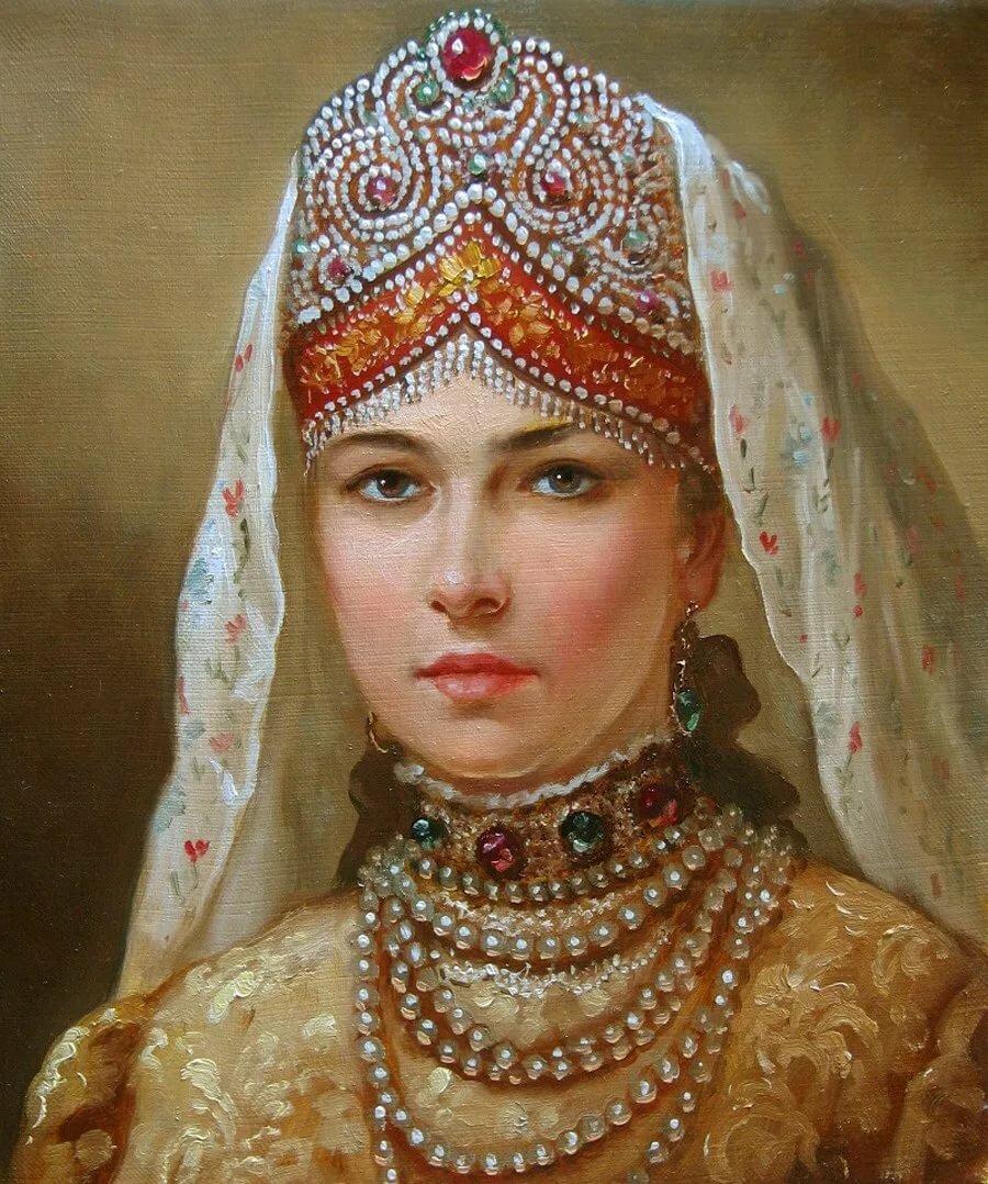 Открытки серии русские красавицы