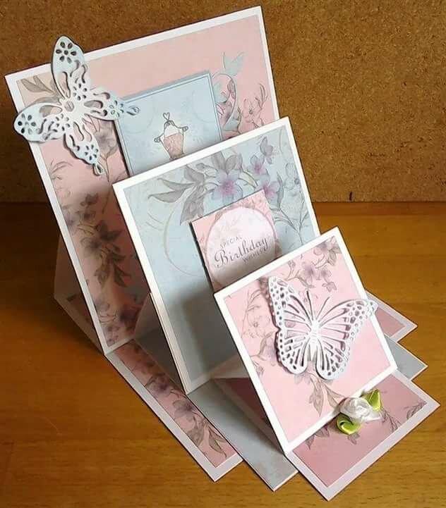Простые открытки раскладушки своими руками