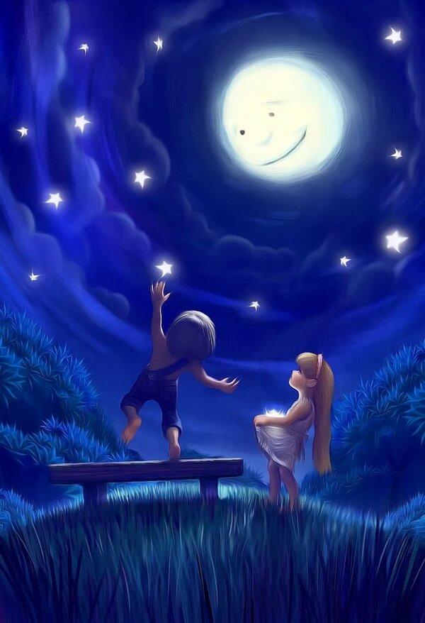 Сказочные картинки про ночь