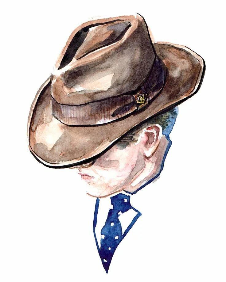 нужно человек в шляпе картинки карандашом каждый человек хоть