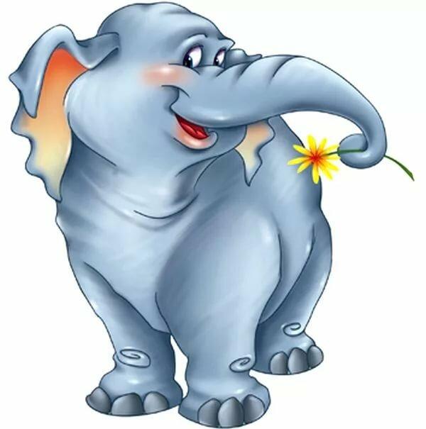 Картинки с прикольными слониками