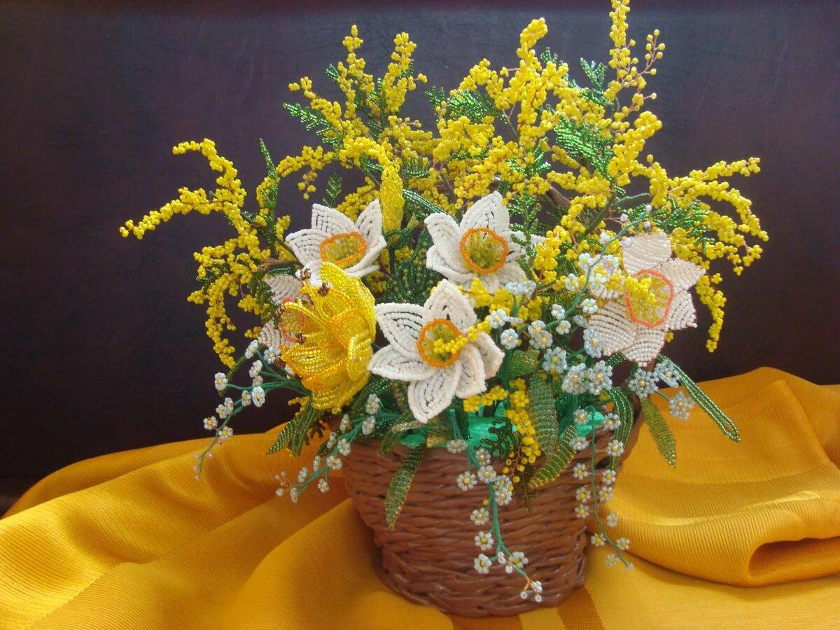 Картинки с бисером цветы