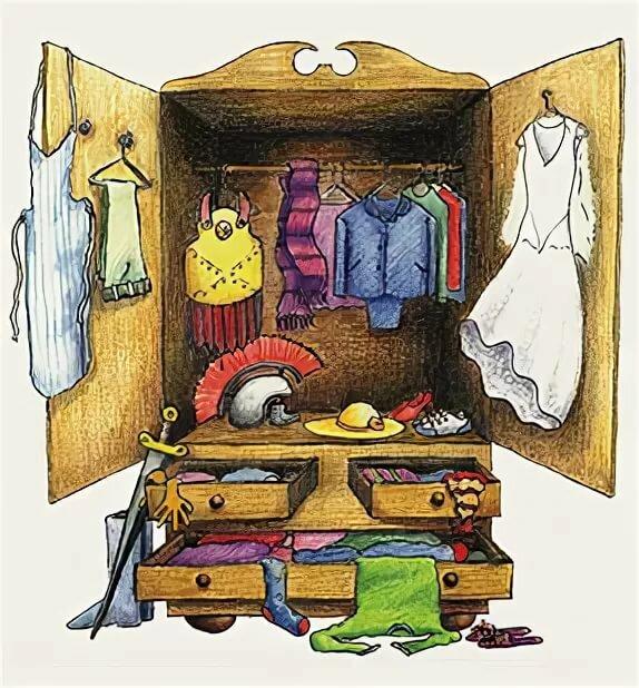 Картинки для детей шкаф с одеждой