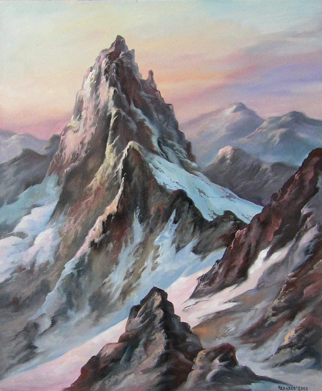 рисуем горы фото них