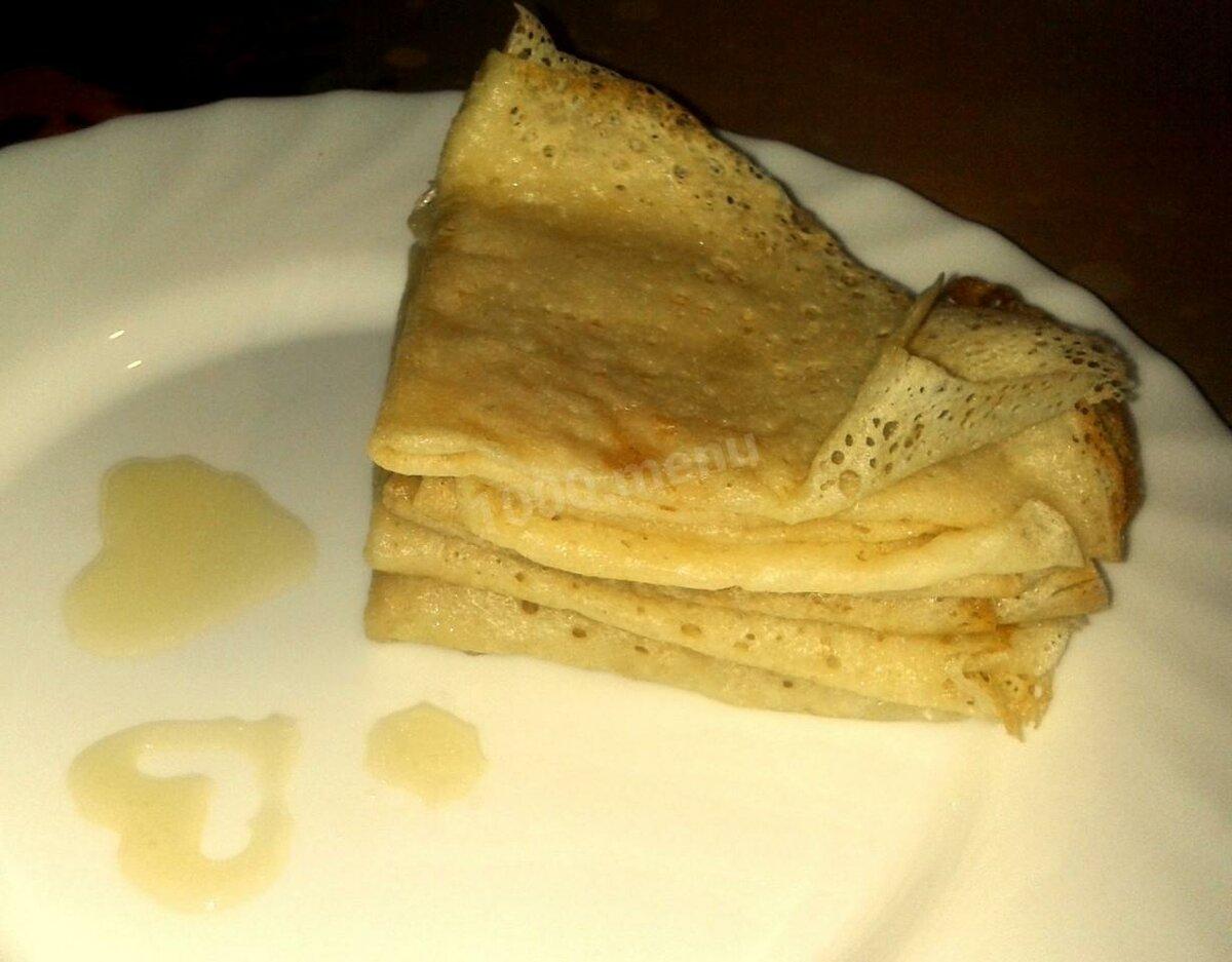 Блинчики без яиц рецепт с фото