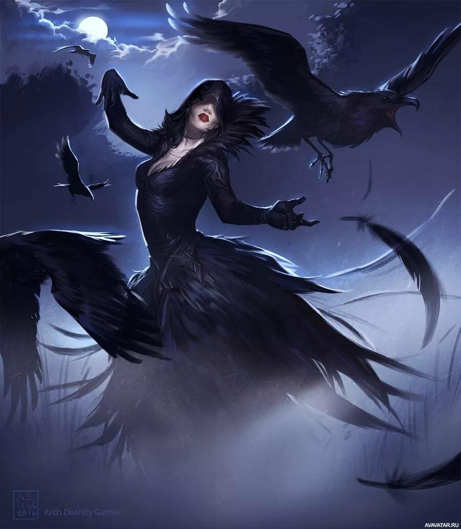 мистические картинки птица и человек тройные заставки