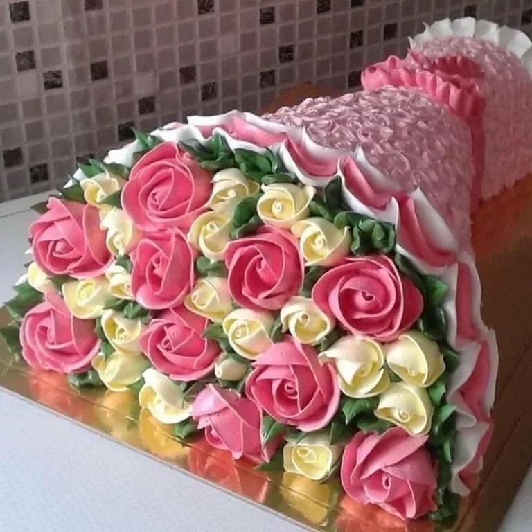картинки торт в виде букета роз стали