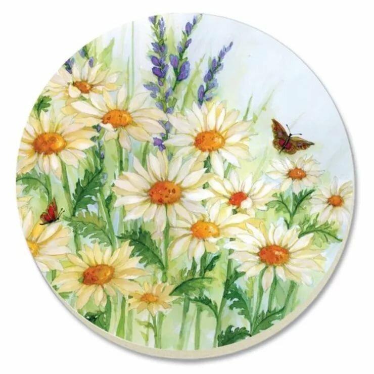 Картинки цветов круглой формы
