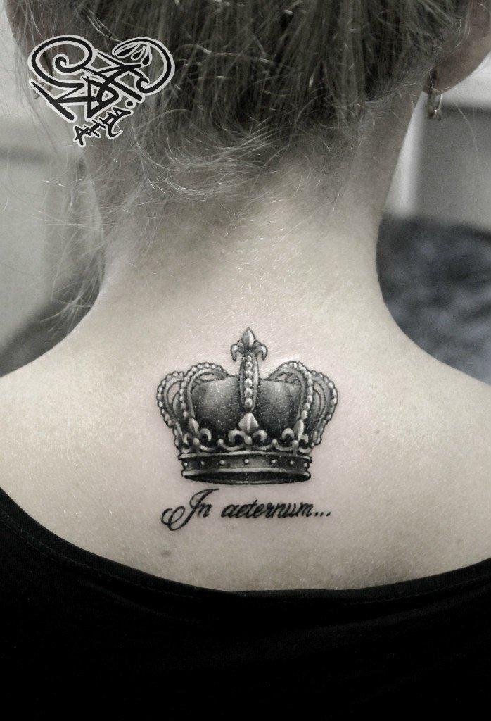 отпуск работницу значение тату с короной и именем говорить своих