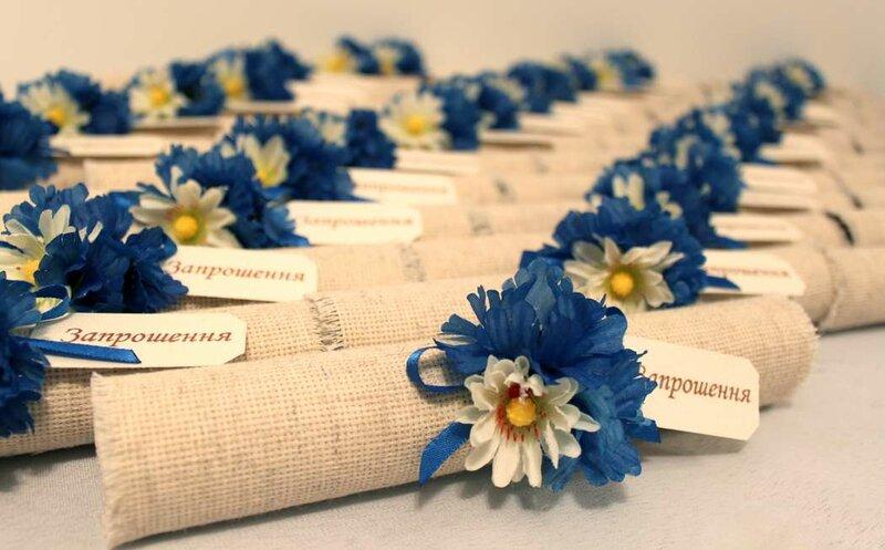 Приглашения на свадьбу: сверток