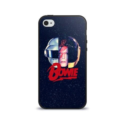 Чехол для Apple iPhone 4/4S силиконовый глянцевый Bowie