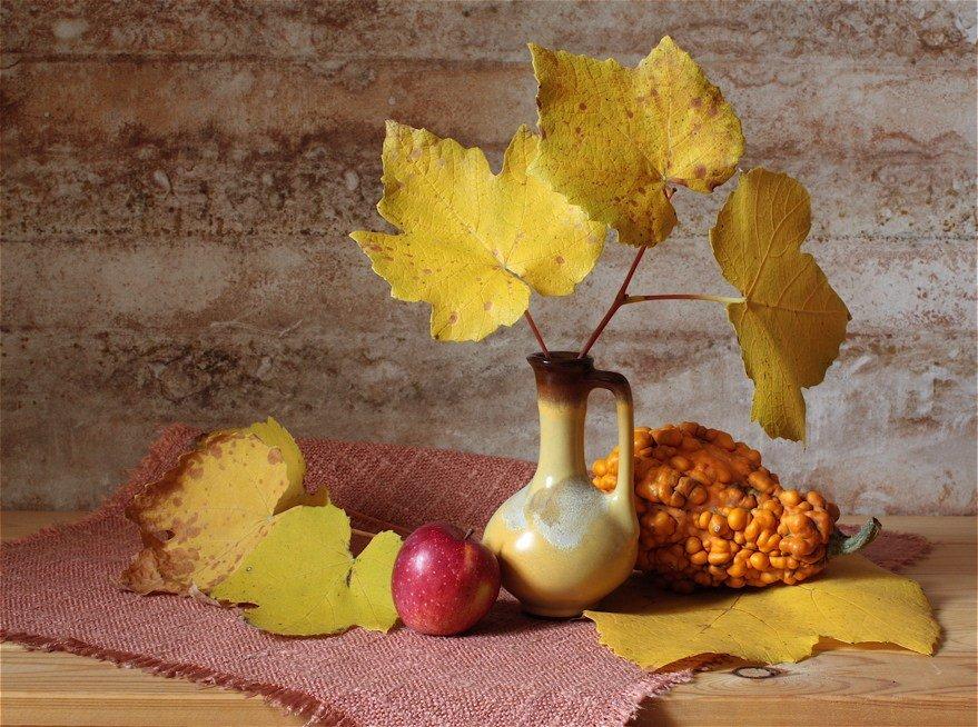 словами осенние листья натюрморт картинки верхний слой