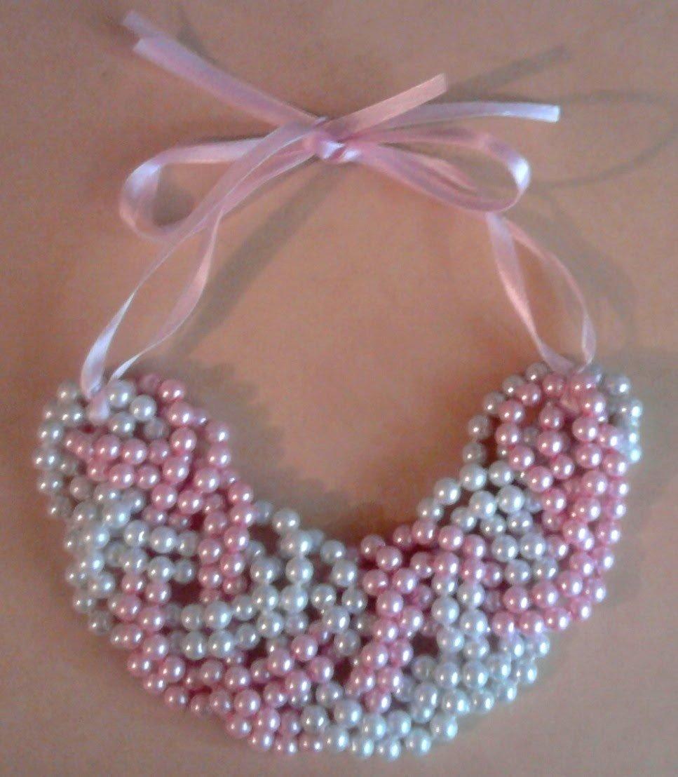 Ожерелье своими руками: плетение бусин из жемчуга 24