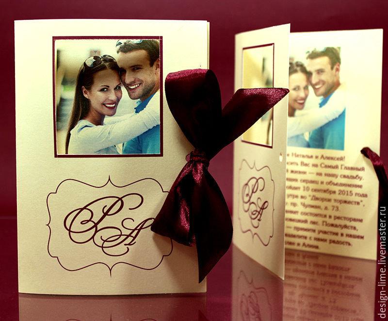 Заказать открытку на свадьбу с фотографиями жениха и невесты
