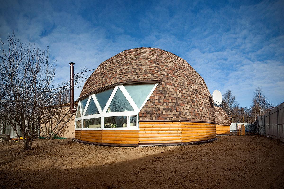круглые купольные дома фото это самая