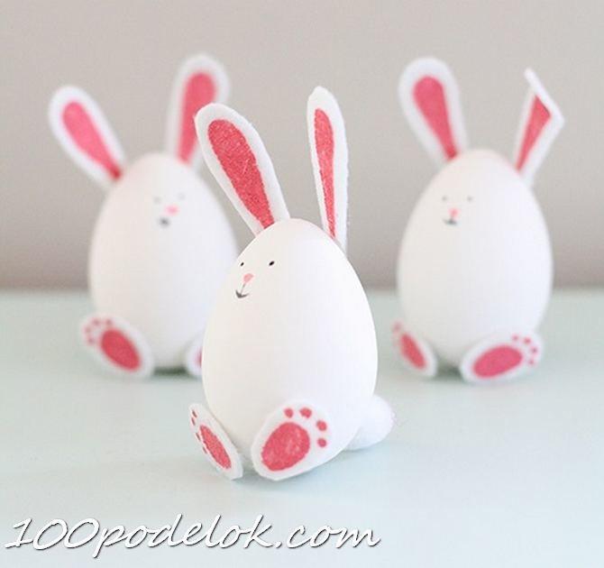 Как сделать кролика из яйца фото 533