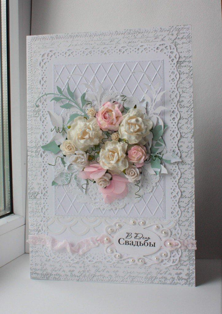 Днем рождения, открытка на венчание скрапбукинг