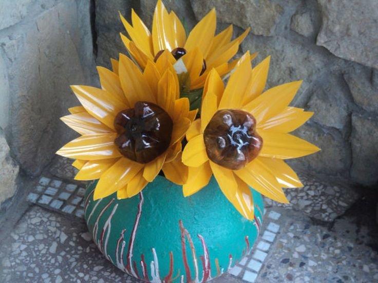 Поделки и цветы из пластиковой бутылки 595