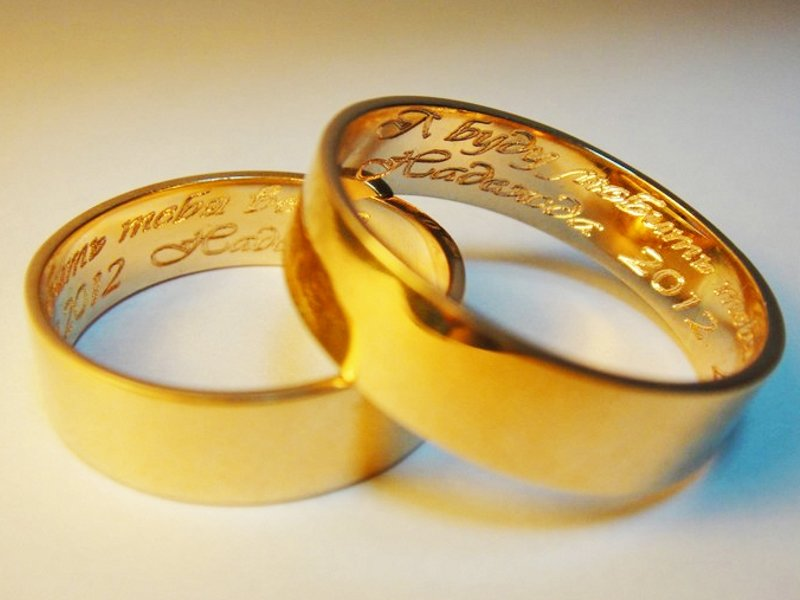 Открытка, картинки кольца с надписью