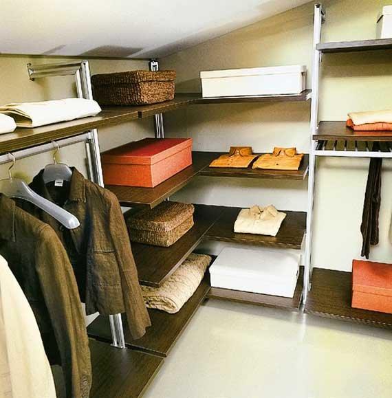 10 идей декора спилов в интерьере гардеробной в мансарде: со.