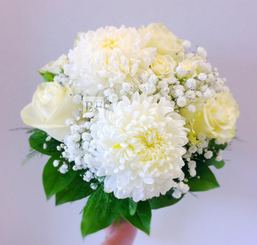 Букет розы, букет из хризантем и астр