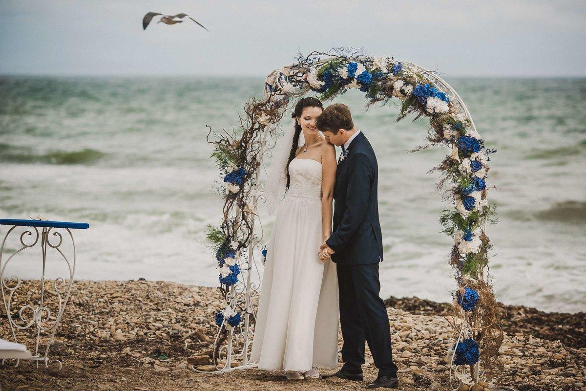 Свадебные картинки в морском стиле, утро