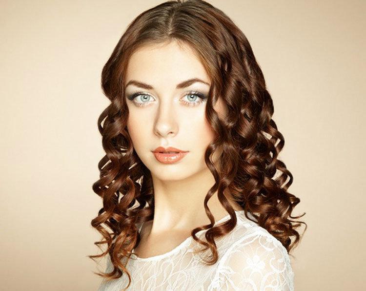 прическа крупные локоны на средние волосы фото клиника