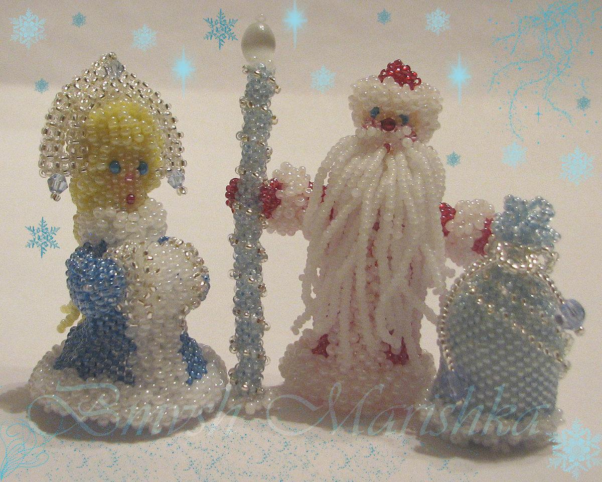 Зимние поделки картинки с дедом морозом и снегурочкой к новому году, днем