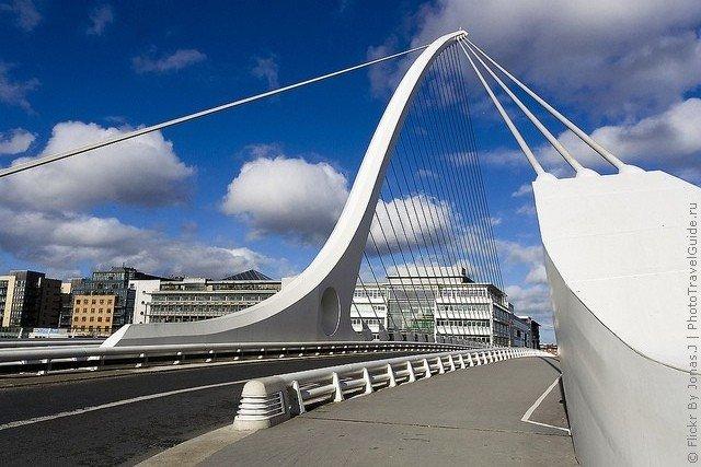 Мост Сэмюэла Беккета –достопримечательность Дублина.