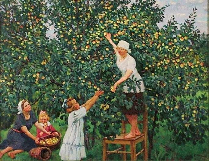 Картинки на тему фруктовый сад, днем
