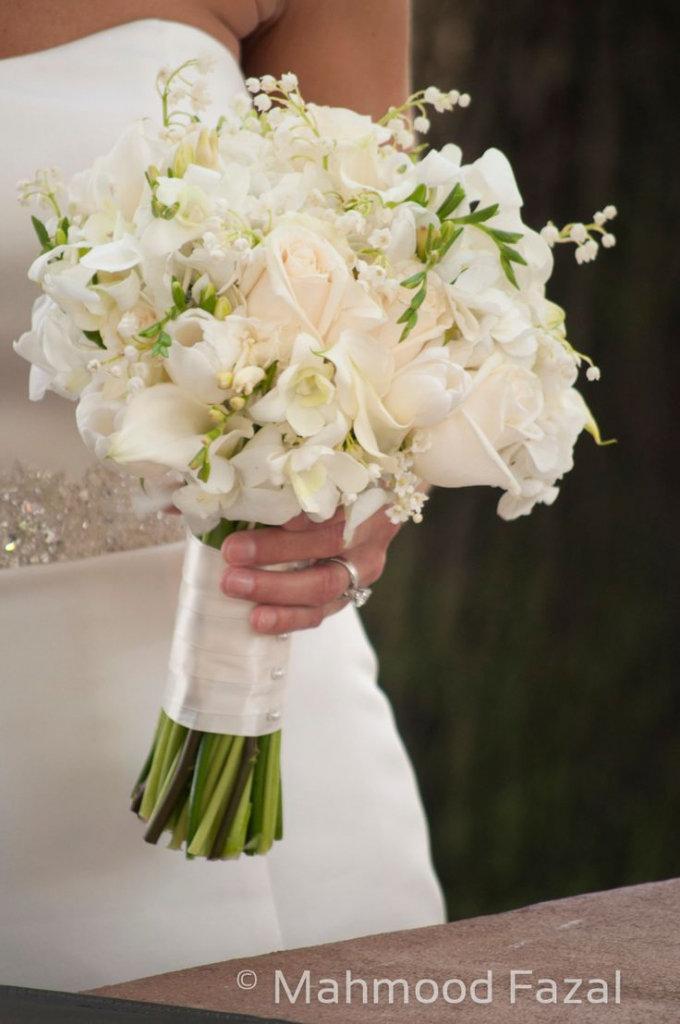 Свадебный букет из ландышей